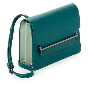 Botkier Lennox Box Leather Crossbody Emerald Isle
